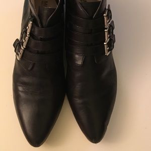 Michael Kors - worn Black Leather Ankle Boots.